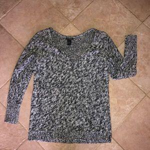 Lane Bryant Knit Deep V Neck Sweater